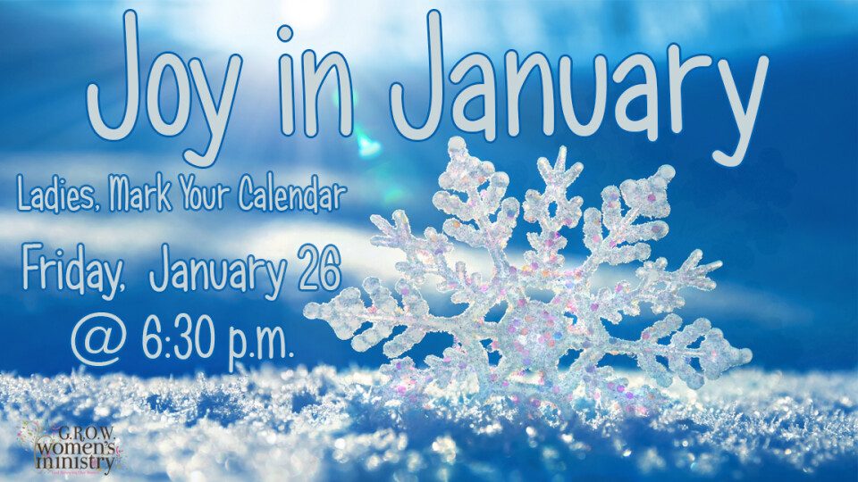 Joy in January, Women's Event Registration